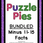 Puzzle Pies - Subtracting by 11-15 **Bundled Product**