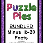 Puzzle Pies - Subtracting by 16-20 **Bundled Product**