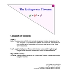Pythagorean Theorem Lesson Plan (w/ Common Core standards)