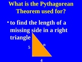 Pythagorean Theorem Lesson on Powerpoint