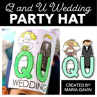 Q and U Wedding Party Hat
