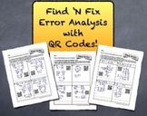 "QR Code ""Find 'N Fix"" Error Analysis Bundle - Students LOV"