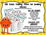 QR Codes Clocks Telling Time to the Hour and Half Hour
