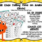 QR Code Math Center Activities:Telling Time to the Hour an