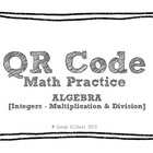 QR Code Math Practice [Algebra - Multiply & Divide Integers]