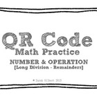 QR Code Math Practice [Long Division 1 Digit With 4 Digit