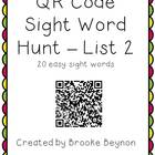 QR Code Sight Word Hunt - List 2