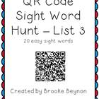 QR Code Sight Word Hunt - List 3