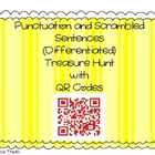QR Codes Punctuation and Scrambled Sentences Treasure Hunt