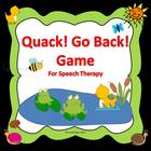 Quack! Go Back! FREE Speech Therapy Game for Articulation