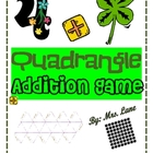 Quadrangle Addition Game! (Great Center or Workstation!)
