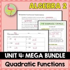 Quadratic Functions Alg 2 Unit 4 (Bundled)
