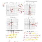 Quadratic Functions Assessments KEY