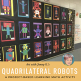 Quadrilateral Robots: Math Activity, Worksheets & Game