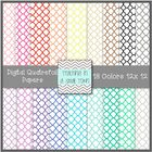 Quatrefoil Digital Scrapbook Paper- 12x12- Commercial Use
