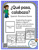 Que pasa, calabaza?  Spanish emotions game -- Updated!