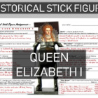 Queen Elizabeth Historical Stick Figure (Mini-biography)