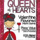 Queen of Hearts - Math Center Freebie