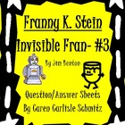 Question Sheet - Franny K. Stein #3 - Invisible Fran +Answ