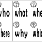 Question Words Flash Cards and Roll-A-Word Game