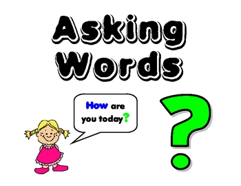 Question Words - Word Wall
