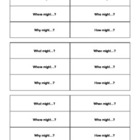 Question ring for guided reading groups or partner work