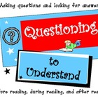 Questioning to Understand {Reading Strategy Poster}