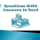 Questions with Answers in the Text Reading Strategy PowerPoint