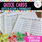 Quick Articulation and Phonology Bundle Card Pack for Spee