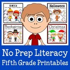 Quick Common Core Literacy Bundle - The Complete Set (fift