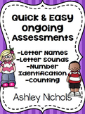 Quick and Easy Ongoing Assessments: Alphabet and Number Id