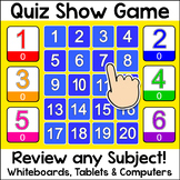 Quiz Show Quiz-E Game - Review any Subject – For Whiteboar