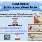 Quotation & Comma Practice: Famous Americans {Free}
