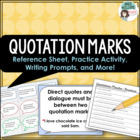 Quotation Marks - Review & Practice with Quote Card Writin