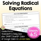 RADICAL FUNCTIONS ALG 2 Lesson 5: Solving Square Root and