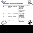 "RAFT Topics for the Book, ""Things Not Seen"", by Andrew Clements"