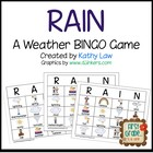 RAIN--Weather Bingo