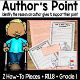 RI.1.8 Identify the reasons an author gives to support poi