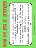 RI.3.8 Third Grade Common Core Worksheets, Activity, and Poster