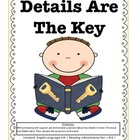 RI.K.1 Kindergarten Common Core Worksheets, Activity, and Poster