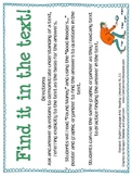RL.3.1 Third Grade Common Core Worksheets, Activity, and Poster