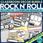 ROCK 'N ROLL Theme EDITABLE Classroom Essentials-34 Printa