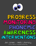 RTI: 125 CBM's for Progress Monitoring Phonemic Awareness