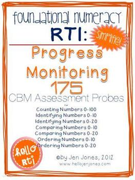 RTI: 175 CBM's for Progress Monitoring Foundational Numera