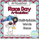 Race Day Multi-Syllable Words