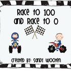 2.NBT.1 Race to 0 and Race to 100 Place Value Math Station