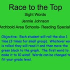 Race to the Top Sight Word Game