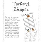 Race to the Turkey!  Shapes