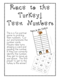 Race to the Turkey! Teen Numbers