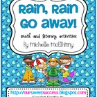 Rain Rain Go Away {Math and Literacy Activities}
